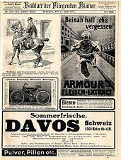 Verkehrsverein Davos Schweiz Nekarsulmer Fahrradwerke Red Star Champagne Co.1907