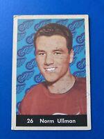 Norm Ullman 1961-62 Parkhurst Hockey Card #26 Detroit Red Wings