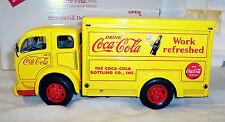 DANBURY MINT DIE CAST METAL - 1955 COCA COLA DELIVERY TRUCK WITH DISPLAY CASE
