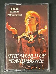 The World Of DAVID BOWIE CASSETTE TAPE Saudi Arabia IBM RARE