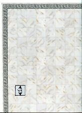 Faux Marble Tile Floor Sheet 34734 dollhouse 1pc World & Model card stock