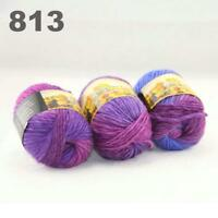Sale New 3 Skeinsx50g Rainbows Coarse Hand Knit Quick Wool Yarn Shawl Scarves 13
