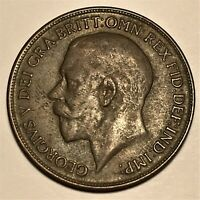 1919 Great Britain Penny, George V, KM# 810, AU  #2671