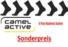 Camel Active - Herrensocken - 6 Paar - schwarz - Gr. 47/50 - Sonderangebot