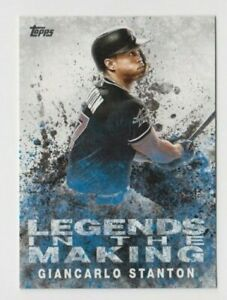 (2) Giancarlo Stanton 2018 TOPPS LEGENDS IN THE MAKING INSERT LOT #LTM-GS MIAMI