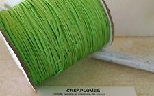 Lot de 5m cordon fil de nylon pour bracelet , 1.5mm  vert