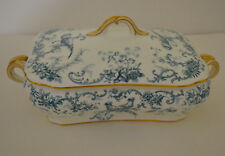 BROWN WESTHEAD MOORE CAULDON VEGETABLE TUREEN WITH EXOTIC BIRDS FOR C.A.SALZER