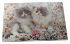 Persian Kittens by Roses Extra Large Toughened Glass Cutting, Choppin, AC-60GCBL
