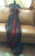 Victorian Wedding Black Punk Gossip Evening Gown Wedding Vintage Dress