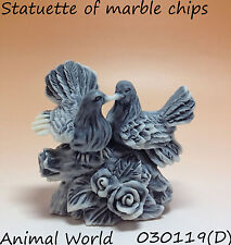 Figurine Bird Pigeon Marble chips Souvenirs Russian Love and Pigeon flowers