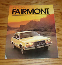 Original 1981 Ford Fairmont Sales Brochure 81 Futura Wagon