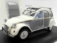 Norev 1/18 Scale Diecast 181494 Citroen 2CV Dolly 1985 Meije White Cormoran Grey