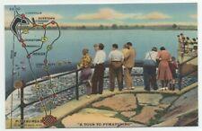 1944 Pymatuning Dam Reservoir Fishing Area Map from Pittsburgh Shenango River