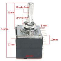 100K Log ALSP Audio Amp Volume Control Potentiometer Pot Stereo W Loudness
