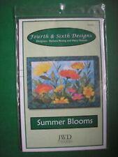"""Summer Blooms Quilt Pattern by Fourth & Sixth Designs, 60"""" by 43"""" NEW B Persing"""