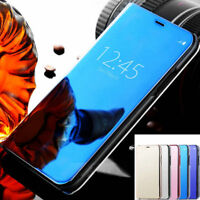 For iPhone 12 11 Pro Max 8 7 6S Plus Mirror Leather Flip Smart Case Stand Cover