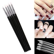Nail Pen Brush Hot 5Pcs Soft Silicone Art design Stamp Carving Craft Supplies