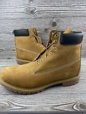 New Mens Timberland Premium 6 Inch Waterproof Leather Boot Wheat Nubuck size 16