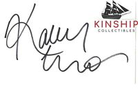Kaley Cuoco signed 3x5 Index Card JSA COA Vintage Auto Hot Sexy Actress Z544