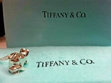 Authentic Vintage Tiffany & Company Sterling Silver Frog Pendant Charm & Chain