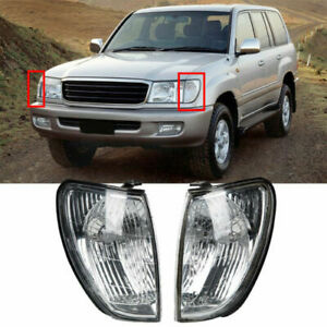 For Toyota Land Cruiser 100 1998-2005 Pair Front Corner Light VSXMET Clear Lens