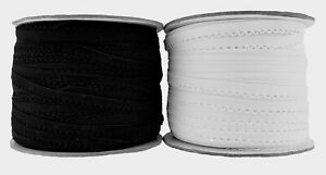 Knicker or Decorative Elastic Black & White sold in 5 Metre Lengths