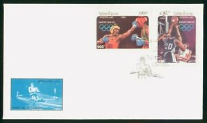 MayfairStamps Laos 1992 Barcelona Boxing & Basketball First Day Cover wwp80293