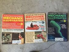 Mechanix Illustrated MAGAZINE  vintage LOT OF 3 of 1970  oct, nov, dec