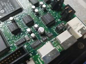 Classic Macintosh logic board capacitor + battery service