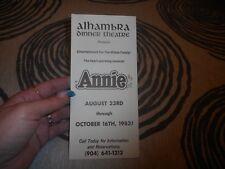 Vintage 1983 Alhambra Dinner Theatre Annie Jacksonville Florida