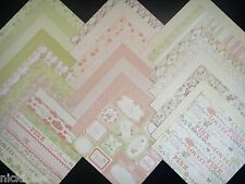 12X12 Scrapbook Paper Premium Cardstock DCWV Preppy Princess Stack 24 Sheets Kit