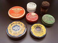 Lot of Vintage Soldering Sodering Paste Tin Collection Glaser Allen Dunlap