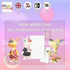 All Kangaroos Animal Crossing Custom NFC Amiibo Compatible Card New Horizons