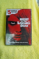 Brand New/Sealed Dvd! Night Of The Living Dead + 5 Bonus Horror Movies! Most B/W
