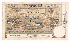 """100 Frank/Franc   type  """"1898""""  Montald (z arabesk)  16.07.1920     Morin 54b"""