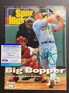 Mark McGwire Oakland A's Signed Autograph SI Sports Illustrated PSA DNA