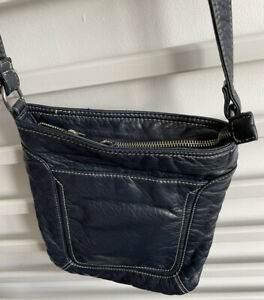 NEXT ~ Navy Blue Leather Across The Body Bag