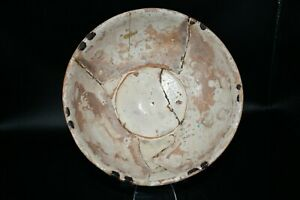 Lovely Authentic Ancient Islamic Ceramic Bowl from Ancient Near East