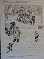 """7x10"""" PUNCH cartoon 1937 MR BERT ENTWHISTLE football photography"""