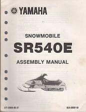1981 YAMAHA SNOWMOBILE SR540E SR-V ASSEMBLY MANUAL LIT-12668-00-37  (003)