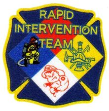 Maltese Cross Reflextive Decals for Helmet - HAZMAT RAPID INTERVENTION TEAM