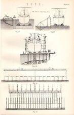 1880 stampa Barrow deposito Dock ~ spedizione per la pulizia