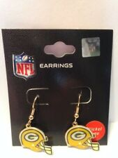 GREEN BAY PACKERS - HELMET LOGO - DANGLE EARRINGS - BRAND NEW
