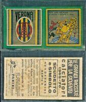 R@RIT@' SCUDETTO + MASCOTTE COLLEZIONE PANINI 1969/70- VERONA*NEW