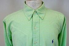 POLO by RALPH LAUREN  Long Sleeved SHIRT   Green Check    Size L     232 W
