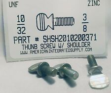 #10-32x3/8 Thumb Screws With Shoulder Steel Zinc Plated (25)