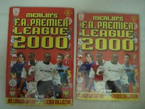 Merlin 2000 England Premier League Sticker Album 100% Complete + Binder