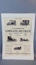 Vintage LORRAINE DIETRICH 1909 Automobile CAR Art Print AD Paris France