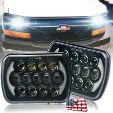 "Pair 85W 5X7"" 7x6"" LED Headlights for GMC Chevrolet Jeep Cherokee XJ YJ H6054"