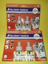 FELIWAY MULTICAT~CONSTANT CALMING & COMFORT AT HOME~2 TWIN REFILLS PACKS~BID $1